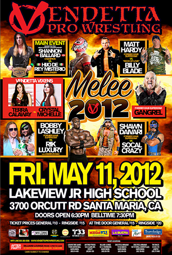 Melee 2012 event flyer