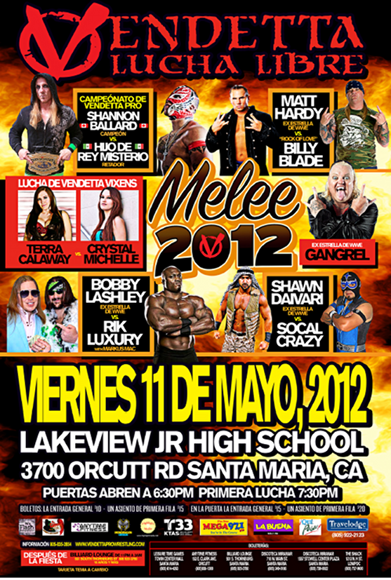 Melee 2012 Spanish event flyer